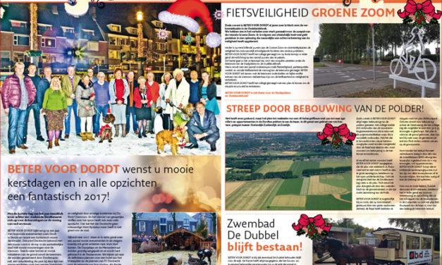 Beter Voor Dordt Nieuwsbrief december 2016