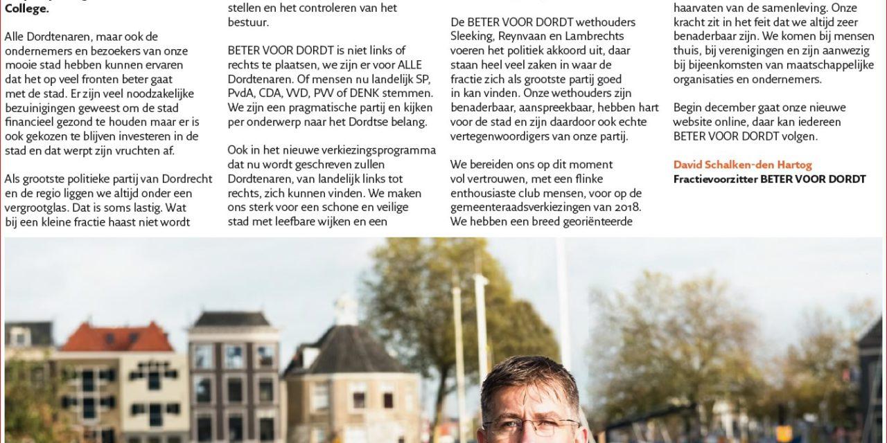Nieuwsbrief: Beter Voor Dordt november 2017