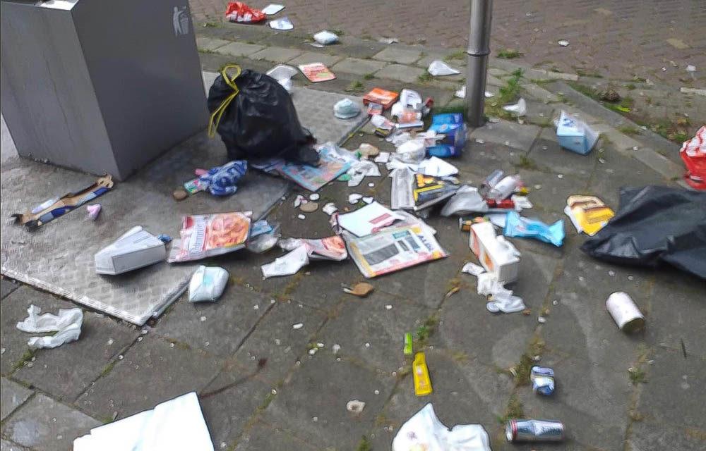 Afval in straatbeeld